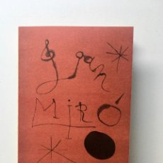 Arte: JOAN MIRÓ - CATÁLOGO DESPLEGABLE - GRAN MIRÓ 1959 - SALA GASPAR. Lote 124915243