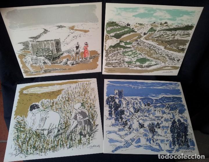 Arte: JOSE HIERRO - REDONDELA + 4 LITOGRAFÍAS ORIGINALES FIRMADAS Y NUMERADAS - EDICIONES REMBRANDT 1979 - Foto 8 - 124646643