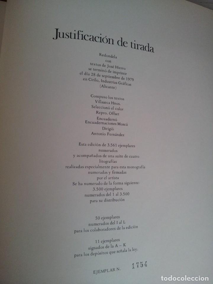 Arte: JOSE HIERRO - REDONDELA + 4 LITOGRAFÍAS ORIGINALES FIRMADAS Y NUMERADAS - EDICIONES REMBRANDT 1979 - Foto 10 - 124646643