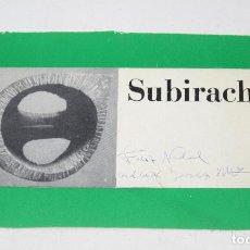 Arte: FELICITACIÓN DE NAVIDAD FIRMADA POR JOSEP MARIA SUBIRACHS. 19,5X11CM. Lote 124732099