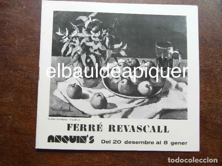 CATALOGO DE EXPOSICION DE FERRE REVASCALL. REUS 1975 (Arte - Catálogos)