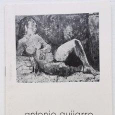 Arte: CATALOGO PINTOR ANTONIO GUIJARRO - GALERIA NAVEDO - SANTANDER 1980. Lote 126707374