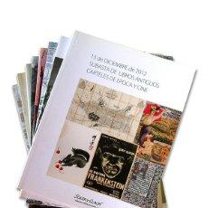 Arte: LOTE DE 8 CATÁLOGOS CASA DE SUBASTAS ''SOLER I LLACH'' - AÑO 2012. Lote 127914547