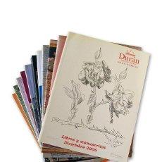 Arte: LOTE DE 11 CATÁLOGOS '' DURÁN SUBASTAS DE ARTE'' - AÑO 2006. Lote 128537203