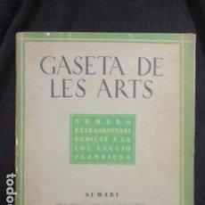 Arte: GASETA DE LES ARTS. ANY 1, NUM. 2 - 1928. Lote 128685251