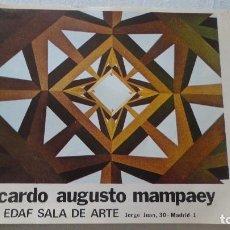 Arte: ANTIGUO DIPTICO.EXPOSICION.RICARDO AUGUSTO MAMPAEY.EDAF SALA DE ARTE.MADRID 1975. Lote 128824335
