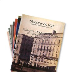 Arte: LOTE DE 7 CATÁLOGOS CASA DE SUBASTAS ''SOLER I LLACH'' - AÑO 2006. Lote 129075207