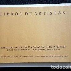 Arte: MIQUEL BARCELÓ Y OTROS. LIBROS DE ARTISTAS.. Lote 129388923
