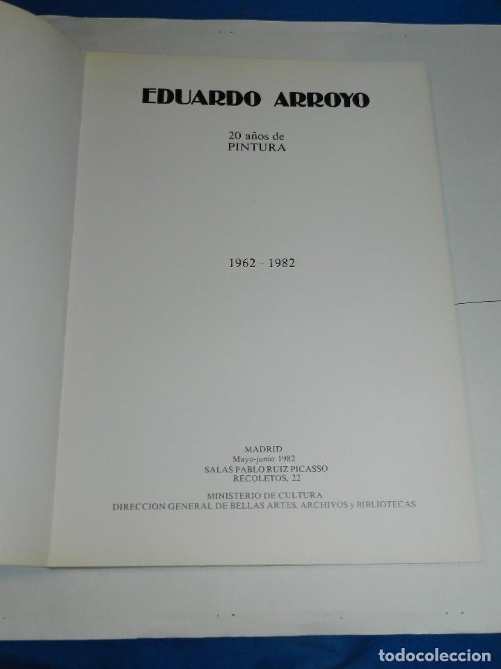 Arte: (M) EDUARDO ARROYO - CATALOG 20 AÑOS DE PINTURA 1962 - 1982 ,DEDICATORIA AUTOGRAFA DE EDUARDO ARROYO - Foto 3 - 129444835