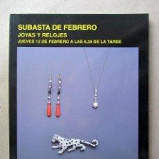 Arte: CATÁLOGO SUBASTAS SEGRE. FEBRERO 2003. Lote 130419510