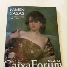 Arte: FOLLETO EXPOSICIÓN RAMÓN CASAS CAIXFORUM 2017. Lote 130930320