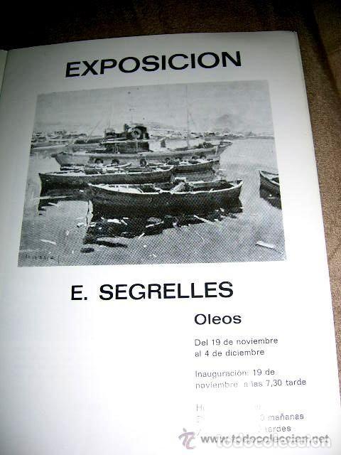 Arte: EUSTAQUIO SEGRELLES. CATALOGO DE EXPOSICION SALA VAN GOGH DE VIGO. 1974. FIRMADO Y DEDICADO. - Foto 2 - 129396243