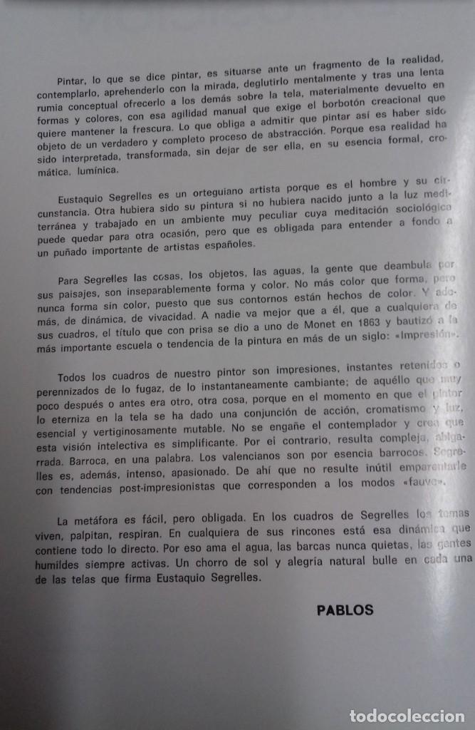 Arte: EUSTAQUIO SEGRELLES. CATALOGO DE EXPOSICION SALA VAN GOGH DE VIGO. 1974. FIRMADO Y DEDICADO. - Foto 4 - 129396243