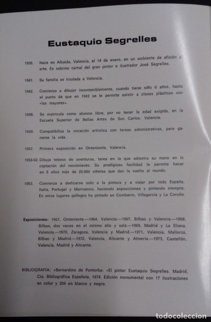 Arte: EUSTAQUIO SEGRELLES. CATALOGO DE EXPOSICION SALA VAN GOGH DE VIGO. 1974. FIRMADO Y DEDICADO. - Foto 8 - 129396243