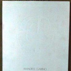 Arte: AMADEO GABINO, CASA DEL CORDÓN, BURGOS, MADRID, 1990. Lote 131510762