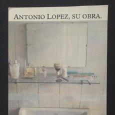 Arte: ANTONIO LÓPEZ , SU OBRA - POSTAL EXPOSICIÓN REINA SOFÍA 1993. Lote 132158322
