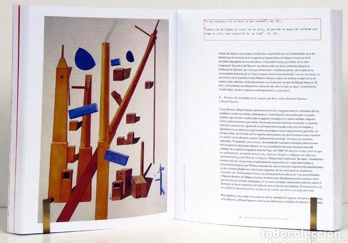 MIQUEL NAVARRO SOBRE WALLACE STEVENS (MEDIACIONES) ANTONIO GARCÍA BERRIO / TERESA GARCÍA BERRIO. (Arte - Catálogos)