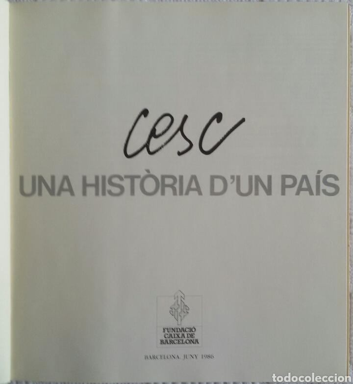 Arte: CESC. UNA HISTÒRIA D'UN PAÍS. FUNDACIÓ CAIXA DE BARCELONA, JUNIO 1986 + DÍPTICO DE LA EXPOSICIÓN - Foto 2 - 133089187
