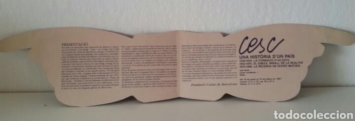 Arte: CESC. UNA HISTÒRIA D'UN PAÍS. FUNDACIÓ CAIXA DE BARCELONA, JUNIO 1986 + DÍPTICO DE LA EXPOSICIÓN - Foto 12 - 133089187