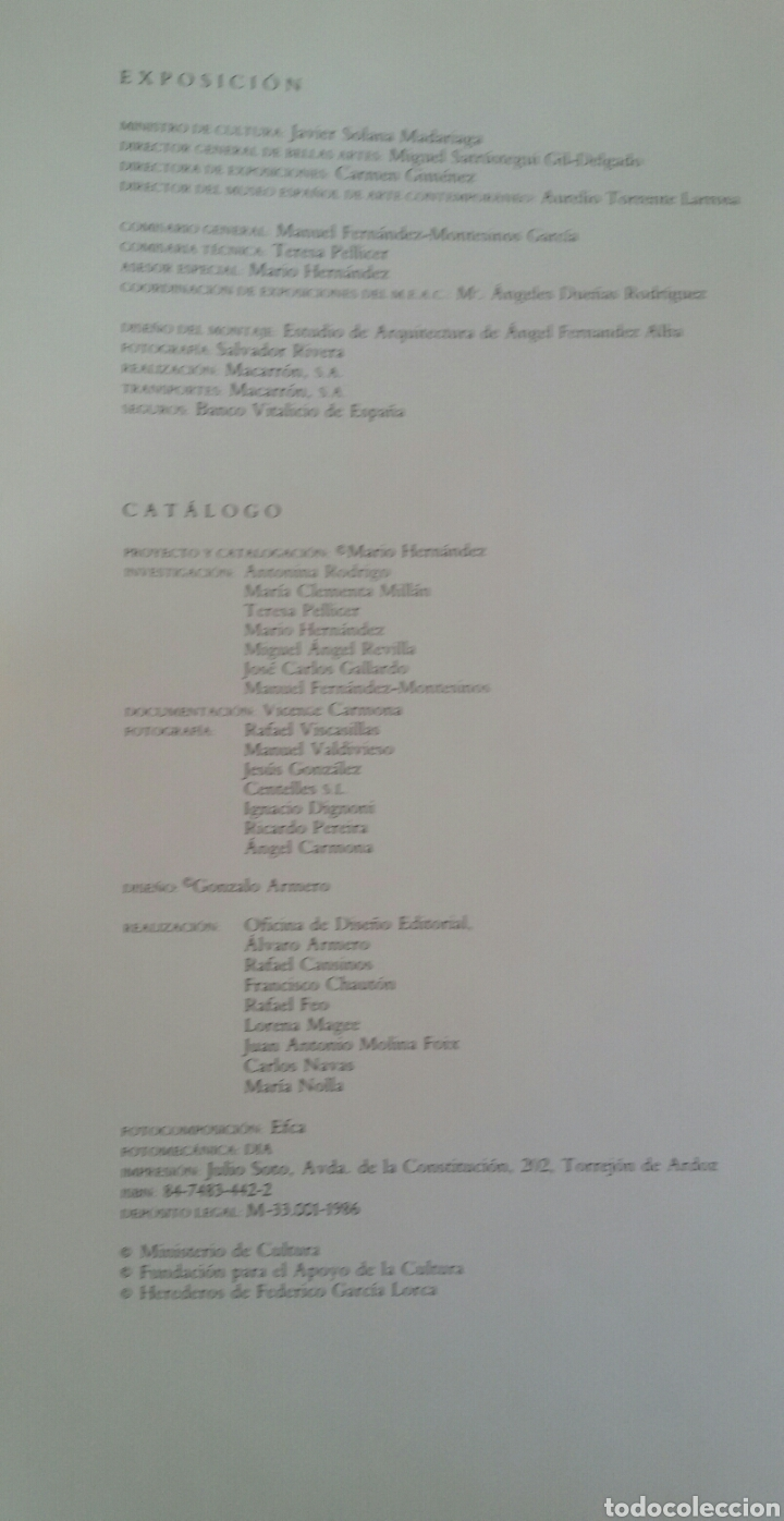 Arte: FEDERICO GARCÍA LORCA. DIBUJOS. BARCELONA, 1986. SALA DE EXPOSICIONES CAIXA DE BARCELONA. - Foto 4 - 133090091