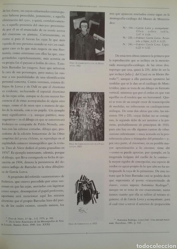 Arte: FEDERICO GARCÍA LORCA. DIBUJOS. BARCELONA, 1986. SALA DE EXPOSICIONES CAIXA DE BARCELONA. - Foto 5 - 133090091