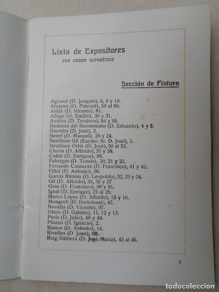Arte: EXPOSICION PINTURA ,ESCULTURA Y ARTE DECORATIVO.VALENCIA 1914.-834 - Foto 3 - 134367270