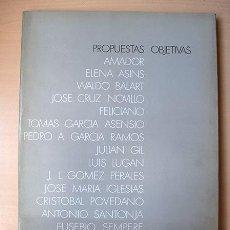 Arte: VIJANDE: PROPUESTAS OBJETIVAS: ASINS, C. NOVILLO, FELICIANO, LUGÁN, IGLESIAS, SANTONJA, SEMPERE.... Lote 134449538