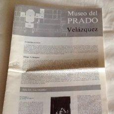 Arte: MUSEO DEL PRADO VELÁZQUEZ CUADERNILLO SALAS XI A XV Y XXVII AMIGOS DEL MUSEO DEL PRADO 1985. Lote 134899179