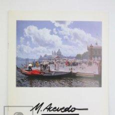 Arte: CATÁLOGO EXPOSICIÓN DE PINTURA - M. ACEVEDO - LA PINACOTECA. BARCELONA, 1998. Lote 135657939