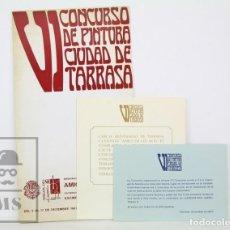 Arte: CATÁLOGO EXPOSICIÓN PINTURA - VI CONCURSO PINTURA CIUDAD DE TARRASA / TERRASSA - AMIGOS ARTE, 1967. Lote 135665467