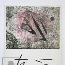 Arte: CATÁLOGO EXPOSICIÓN DE PINTURA - THARRATS. MACULATURES, LLIBRES... - C.C. LA CAIXA DE TERRASSA, 1989. Lote 135680195