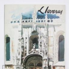 Arte: CATÁLOGO EXPOSICIÓN DE PINTURA - FREDERIC LLOVERAS. ACUARELAS - AJUNTAMENT DE BARCELONA, 1985. Lote 135782714