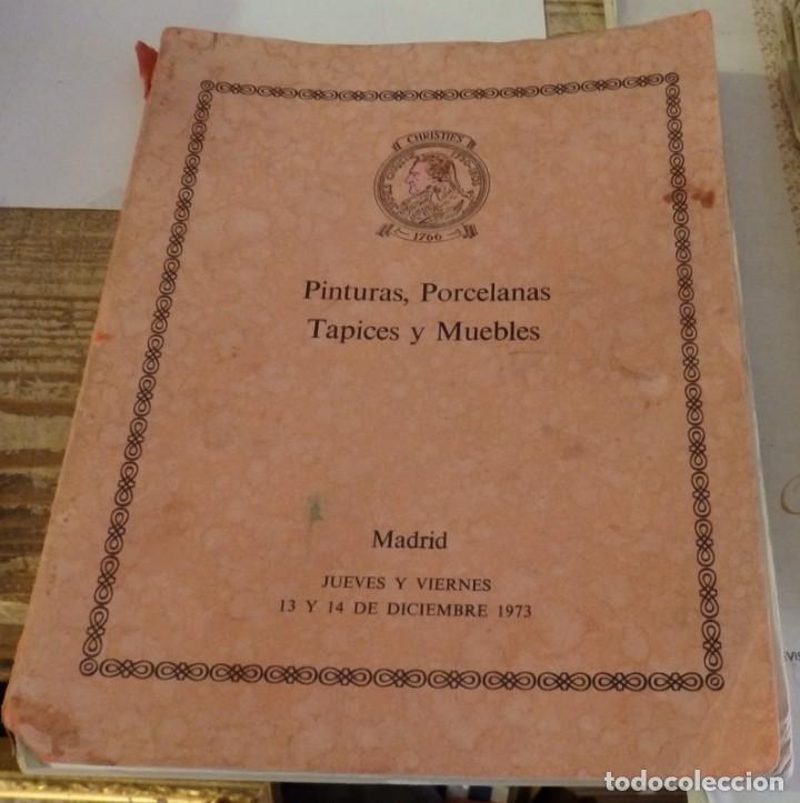 CHRISTIES. PINTURA, PORCELANA ..MADRID DICIEMMBRE 1973. VER FOTOS Y DETALLES. 96 LÁMINAS +73 PGN. (Arte - Catálogos)