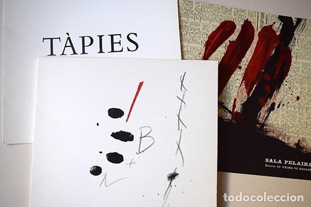 ANTONI TÀPIES – SALA PELAIRES, PALMA DE MALLORCA 1975 - 4 LITOGRAFÍAS (Arte - Catálogos)