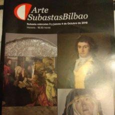 Arte: LOTE 10 CATÁLOGOS SUBASTAS ARTE BILBAO. Lote 138636534