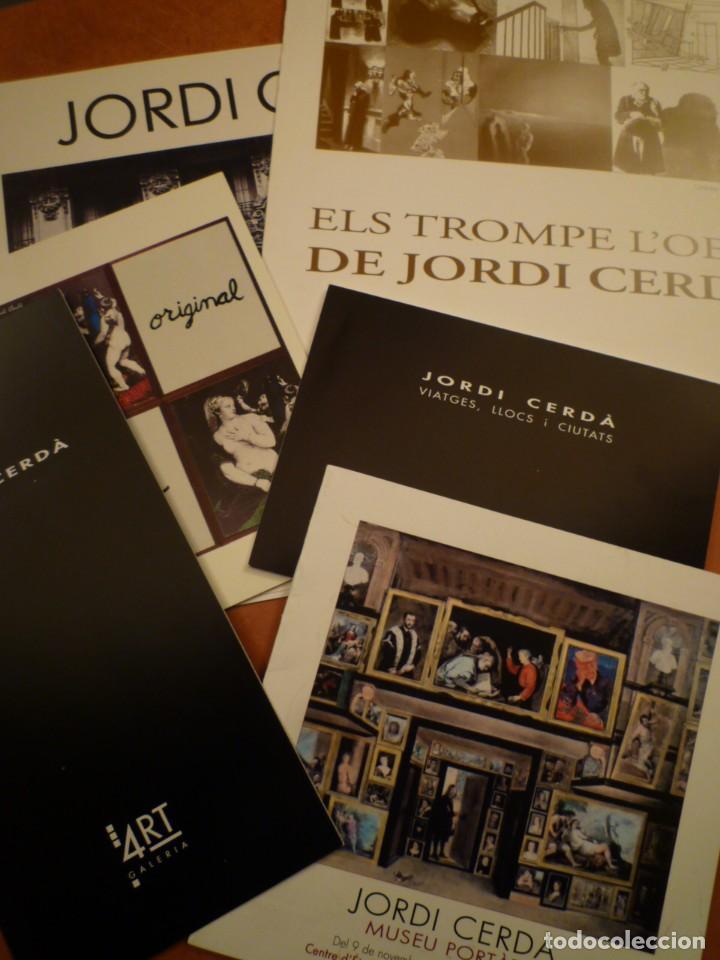 JORDI CERDÀ. LOTE DE 6 CATÁLOGOS E INVITACIONES. (Arte - Catálogos)