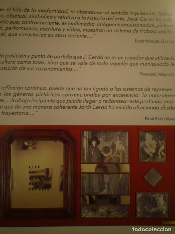 Arte: JORDI CERDÀ. LOTE DE 6 CATÁLOGOS E INVITACIONES. - Foto 5 - 138991054