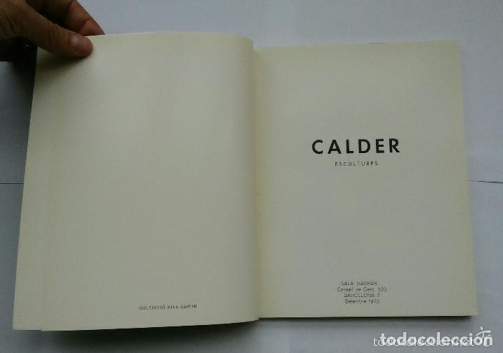 Arte: Calder, Esculturas, Sala Gaspar 1973, con Litografías Originales de Joan Miró - Foto 2 - 139749738