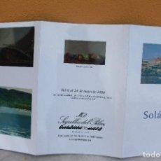 Arte: CATÁLOGO DE SOLÁ PUIG EN GALERÍA SEGRELLES (2008). Lote 139898198