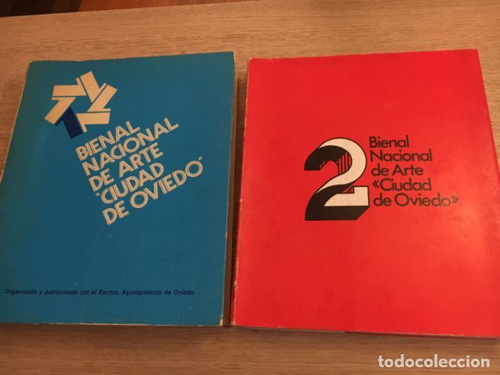 1 Y 2 BIENAL NACIONAL DE ARTE CIUDAD DE OVIEDO. 1977 (Arte - Catálogos)