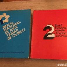 Arte: 1 Y 2 BIENAL NACIONAL DE ARTE CIUDAD DE OVIEDO. 1977. Lote 140528242