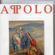 Arte: CATALOGO DE SUBASTAS APOLO Nº 6 AÑO 2005. Lote 140613478