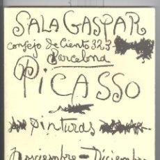 Arte: PICASSO. SALA GASPAR 1960. 30 CUADROS INÉDITOS 1917-1960. FASCIMIL 2005.. Lote 176841723