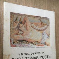 Arte: V BIENAL DE PINTURA / 1990 / ELISA TOMAS YUSTI / SALA EXPOSICIONES CAJALICANTE. Lote 140812818