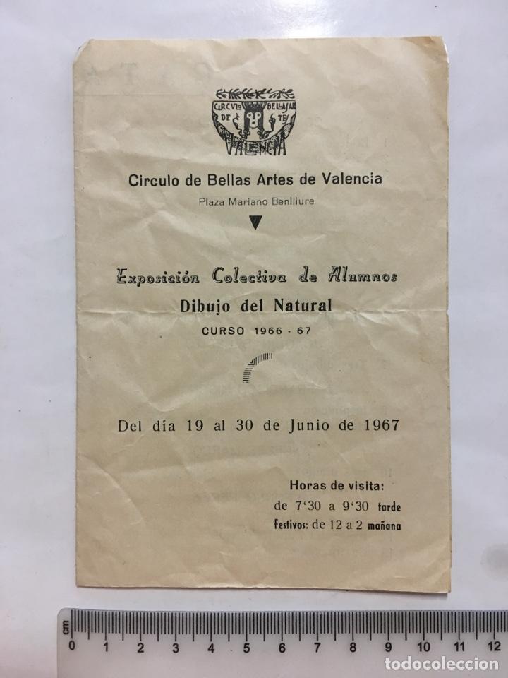 CÍRCULO BB. AA. DE VALENCIA. EXPOSICIÓN COLECTIVA DE ALUMNOS. CURSO 1966-67. VALENCIA. JUNIO, 1967. (Arte - Catálogos)