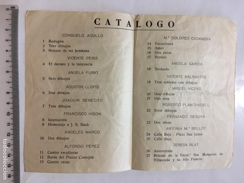 Arte: CÍRCULO BB. AA. DE VALENCIA. EXPOSICIÓN COLECTIVA DE ALUMNOS. CURSO 1966-67. VALENCIA. JUNIO, 1967. - Foto 2 - 141481552