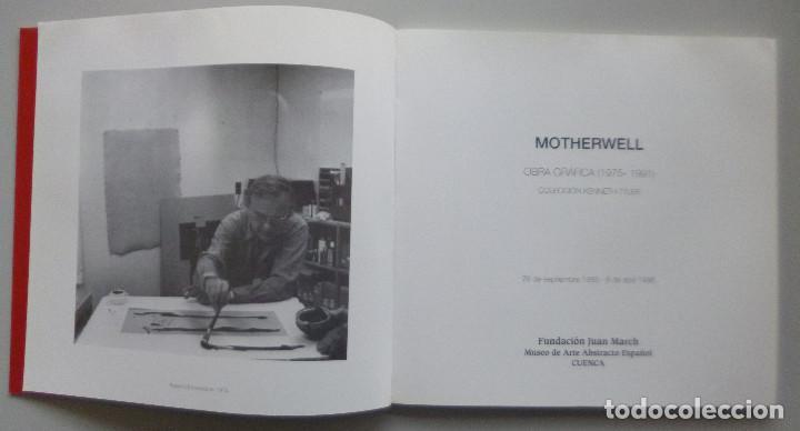 Arte: ROBERT MOTHERWELL // CATÁLOGO EXPOSICIÓN // OBRA GRÁFICA // MUSEO DE ARTE ABSTRACTO CUENCA // 1996 - Foto 2 - 141536138
