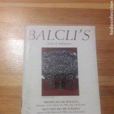 Arte: BALCLIS SALA DE SUBASTAS 1983 LISTADO CATALOGO. Lote 141564074