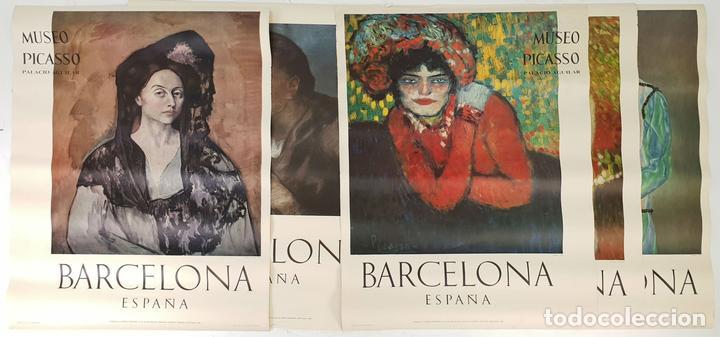 COLECCIÓN DE 5 CARTELES DEL MUSEO PICASSO. ORIGINALES. BARCELONA. 1966. (Arte - Catálogos)