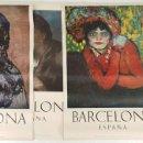 Arte: COLECCIÓN DE 5 CARTELES DEL MUSEO PICASSO. ORIGINALES. BARCELONA. 1966. . Lote 141746210